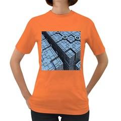Grid Maths Geometry Design Pattern Women s Dark T Shirt