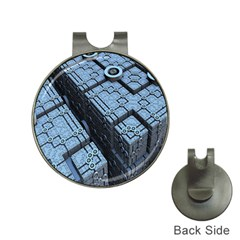 Grid Maths Geometry Design Pattern Hat Clips with Golf Markers