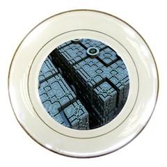Grid Maths Geometry Design Pattern Porcelain Plates