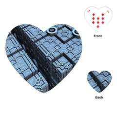 Grid Maths Geometry Design Pattern Playing Cards (heart)