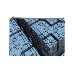 Grid Maths Geometry Design Pattern Cosmetic Bag (large)