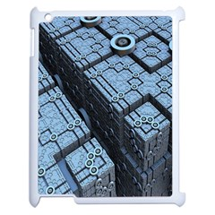 Grid Maths Geometry Design Pattern Apple iPad 2 Case (White)