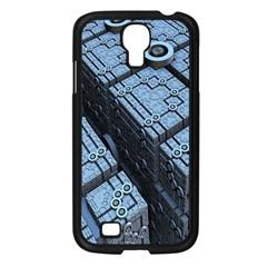 Grid Maths Geometry Design Pattern Samsung Galaxy S4 I9500/ I9505 Case (Black)