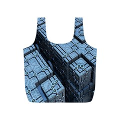 Grid Maths Geometry Design Pattern Full Print Recycle Bags (s)
