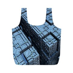 Grid Maths Geometry Design Pattern Full Print Recycle Bags (m)