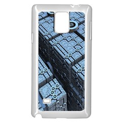 Grid Maths Geometry Design Pattern Samsung Galaxy Note 4 Case (white)