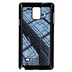 Grid Maths Geometry Design Pattern Samsung Galaxy Note 4 Case (black)