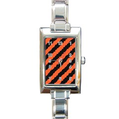 Halloween Background Rectangle Italian Charm Watch