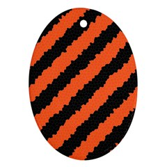 Halloween Background Ornament (Oval)