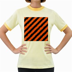 Halloween Background Women s Fitted Ringer T-Shirts