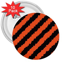Halloween Background 3  Buttons (10 Pack)