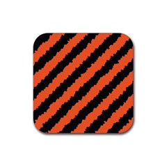 Halloween Background Rubber Coaster (Square)
