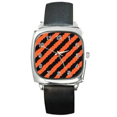 Halloween Background Square Metal Watch