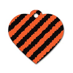 Halloween Background Dog Tag Heart (One Side)