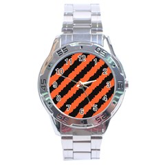 Halloween Background Stainless Steel Analogue Watch