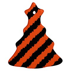 Halloween Background Christmas Tree Ornament (two Sides)