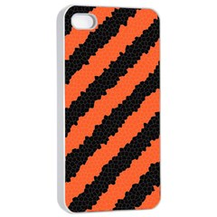 Halloween Background Apple Iphone 4/4s Seamless Case (white)