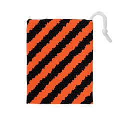 Halloween Background Drawstring Pouches (large)