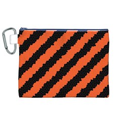 Halloween Background Canvas Cosmetic Bag (xl)