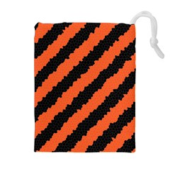Halloween Background Drawstring Pouches (Extra Large)