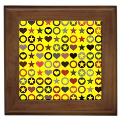 Heart Circle Star Framed Tiles