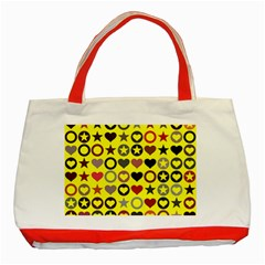 Heart Circle Star Classic Tote Bag (Red)