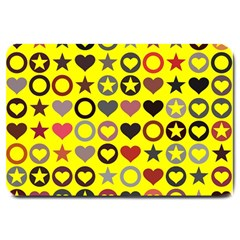 Heart Circle Star Large Doormat