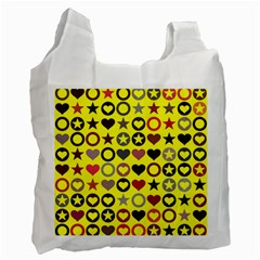 Heart Circle Star Recycle Bag (one Side)