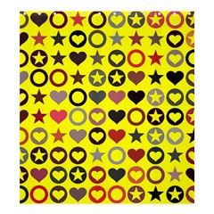 Heart Circle Star Shower Curtain 66  x 72  (Large)
