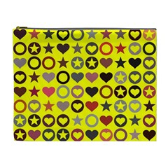 Heart Circle Star Cosmetic Bag (XL)
