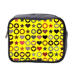 Heart Circle Star Mini Toiletries Bag 2 Side