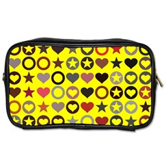 Heart Circle Star Toiletries Bags