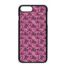 Floral Pink Collage Pattern Apple Iphone 7 Plus Seamless Case (black)