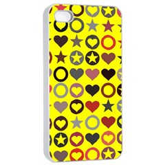 Heart Circle Star Apple iPhone 4/4s Seamless Case (White)