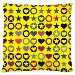 Heart Circle Star Large Cushion Case (Two Sides)