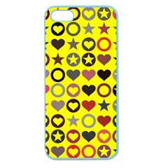 Heart Circle Star Apple Seamless Iphone 5 Case (color)