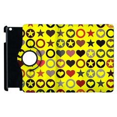 Heart Circle Star Apple Ipad 3/4 Flip 360 Case