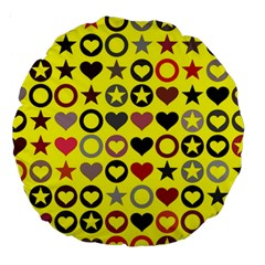 Heart Circle Star Large 18  Premium Round Cushions