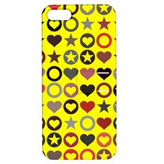 Heart Circle Star Apple Iphone 5 Hardshell Case With Stand