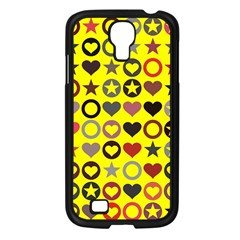 Heart Circle Star Samsung Galaxy S4 I9500/ I9505 Case (black)