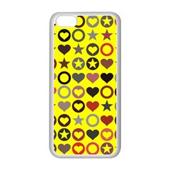 Heart Circle Star Apple Iphone 5c Seamless Case (white)