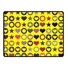 Heart Circle Star Double Sided Fleece Blanket (small)