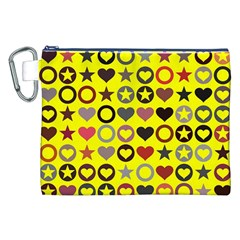 Heart Circle Star Canvas Cosmetic Bag (XXL)
