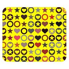 Heart Circle Star Double Sided Flano Blanket (small)
