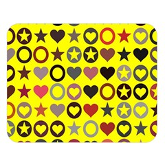 Heart Circle Star Double Sided Flano Blanket (Large)