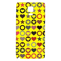 Heart Circle Star Galaxy Note 4 Back Case
