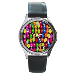 Happy Balloons Round Metal Watch