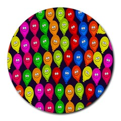 Happy Balloons Round Mousepads
