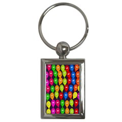 Happy Balloons Key Chains (Rectangle)