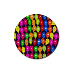 Happy Balloons Rubber Round Coaster (4 pack)